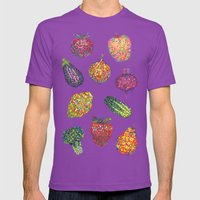 Vitamins - White Mens Fitted Tee Ultraviolet SMALL