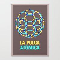 Lionel Messi – The 'Atomic' Flea Canvas Print