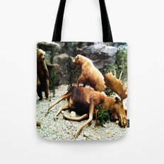 Grizzly Fight Tote Bag