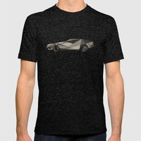 D-LOREAN Mens Fitted Tee Tri-Black SMALL