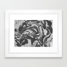 Black Liquid I Framed Art Print