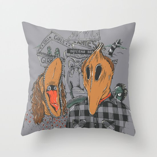 Beetle Gothic - A portrait of the recently deceased Throw Pillow
