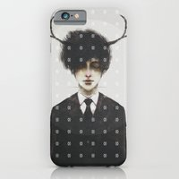 iPhone & iPod Case featuring BLACK SUIT ANTLERS by J U M P S I C K ▼▲