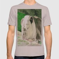 Rufus the Bulldog Mens Fitted Tee Cinder SMALL