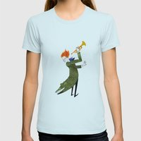 The Coat Tail Womens Fitted Tee Light Blue SMALL