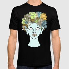 URCHIN SMALL Black Mens Fitted Tee