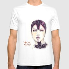Fashion illustration  White Mens Fitted Tee SMALL