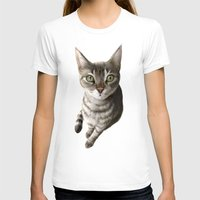 A Cat That I Once Knew Womens Fitted Tee White SMALL