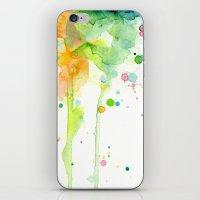 Rainbow Watercolor iPhone & iPod Skin