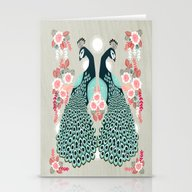 Peacocks By Andrea Laure… Stationery Cards