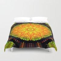 Citrus Slice Kaleidoscope Duvet Cover