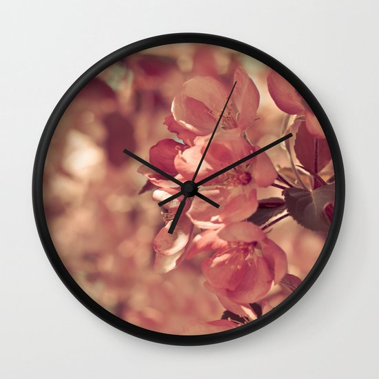 Ode to pink Wall Clock