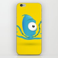 Octopus Blue/Yellow iPhone & iPod Skin