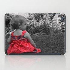 Sitting Red Dress iPad Case