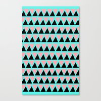 Electric Triangle  Canvas Print