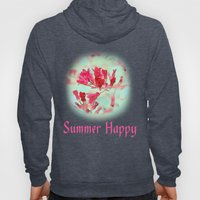 pretty pink summer flowers, summer happy floral photo art. Hoody
