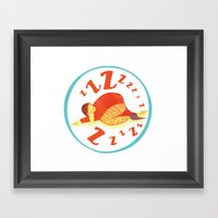 Sleepy Drinker Framed Art Print