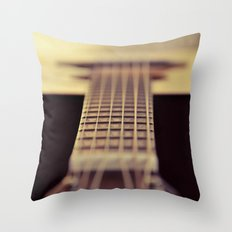 The Guitar Throw Pillow