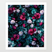 Art Prints featuring RPE FLORAL ABSTRACT III by RIZA PEKER