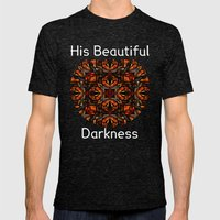 His Beautiful Darkness Mens Fitted Tee Tri-Black SMALL