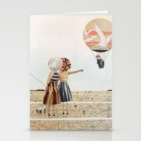 Trip To The Moon, Collag… Stationery Cards