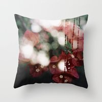 Bouganvillea II Throw Pillow