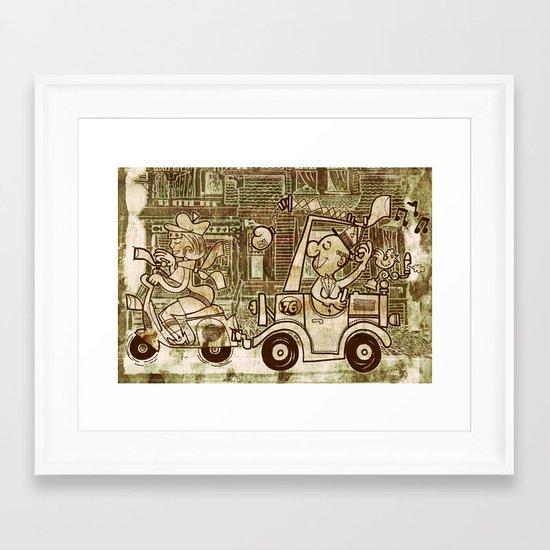 nice spot Framed Art Print