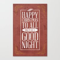 Happy Christmas Canvas Print
