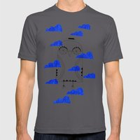 Blue Clouds Mens Fitted Tee Asphalt SMALL