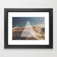 Simple Geometry v2 Framed Art Print
