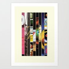 Pearl Jam Stripped Art Print