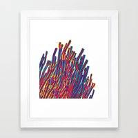 Ribbons Attack Framed Art Print
