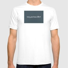 Very Serious Shirt White Mens Fitted Tee SMALL