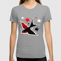 Swallow The Cherry Womens Fitted Tee Tri-Grey SMALL