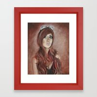 Vivian - Steam Girl Framed Art Print