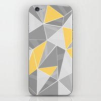 Pattern, grey - yellow iPhone & iPod Skin