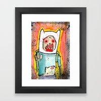 Finn the Zombie Framed Art Print