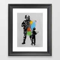 Turmoil Paint Framed Art Print