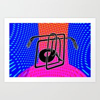 Noodle (blue) Art Print