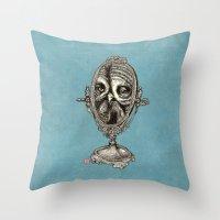 Owl Mirror Throw Pillow
