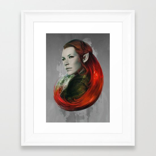 Head of Elven Framed Art Print