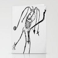 Harlequin Oddity Stationery Cards