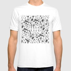 Thug Life Mens Fitted Tee White SMALL