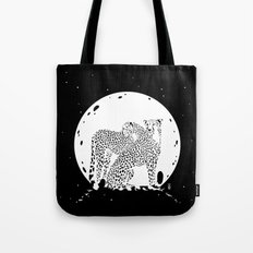 Moonlight Cheetahs Tote Bag