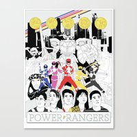 The Mightiest, Morphin'e… Canvas Print