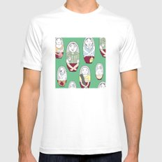 Familushka White SMALL Mens Fitted Tee