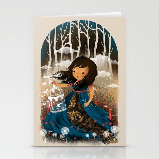 There Once Was A Girl In A Whimsical Land Stationery Card
