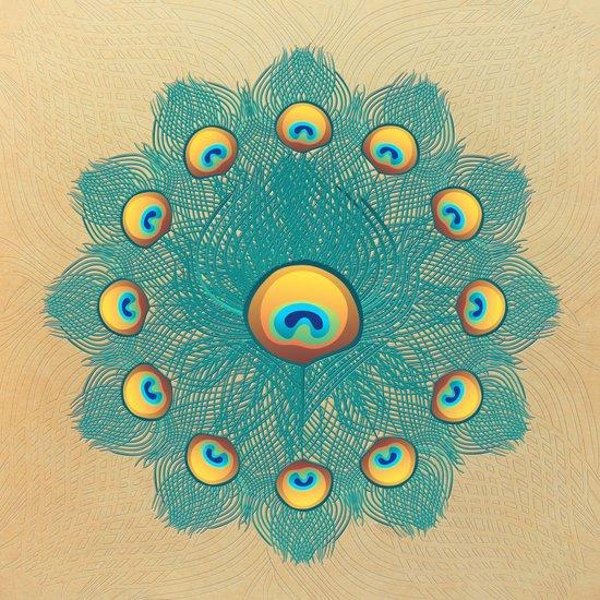 Mandala Peacock Art Print