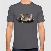 2 Stormtrooopers In A Ho… Mens Fitted Tee Asphalt SMALL