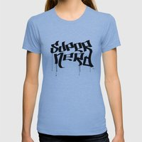 Super Nerd Womens Fitted Tee Athletic Blue SMALL